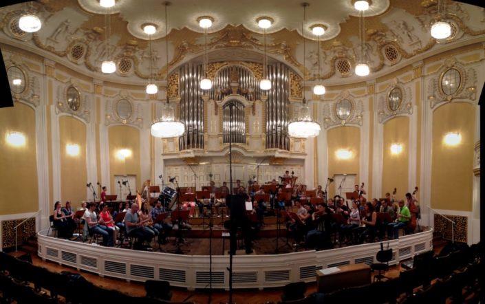 Klassische Musikaufnahme Mikrofone Orchester