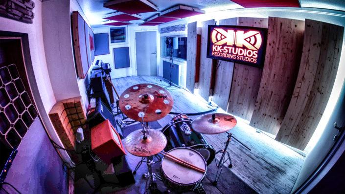 KK-Studios Recording Room perspektiv - from Drumcorner